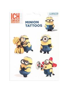 Minions™-Tattoos Bananen 5 Stück bunt