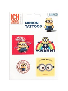Minions Tattoos Happy bunt 5 Stück