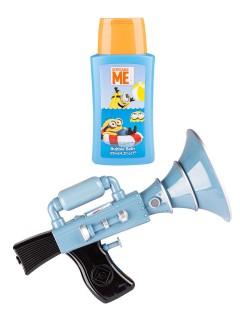 Minions-Wasserpistole mit Schaumbad Minion-Fanartikel blau