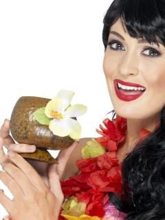 Kokosnuss-Becher Hawaii-Party braun 150ml
