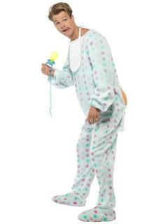 Baby Kostüm Strampler hellblau-rosa