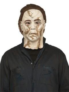 Michael Myers-Lizenzmaske Horrormaske für Halloween beige-braun