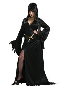 Elvira Vampirin Halloween Damenkostüm Lizenzware übergrösse schwarz
