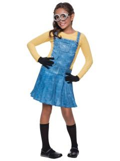 Minions Kinderkostüm für Mädchen Lizenzware gelb-blau