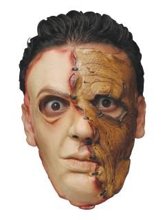 Irrer Psychopath Halloween Maske hautfarben-braun