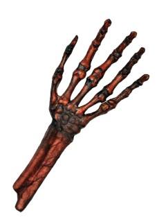 Verrottete Zombie Skelett-Hand Halloween Party-Deko braun-schwarz 30x13cm