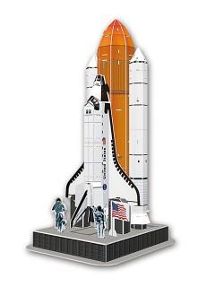 3D Puzzle Weltraum-Rakete 87-teilig bunt 20x18x38cm