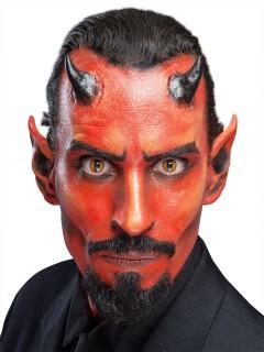 Teufels-Hörner Halloween-Latexapplikation Make-up haut