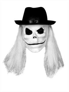 Puppet Master Blade Latex-Maske mit Haaren Lizenzartikel weiss-schwarz