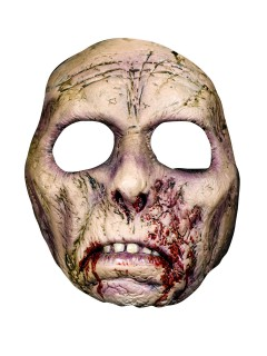 Bruce Spaulding Fuller Narben-Zombie Latex-Maske Lizenzartikel grau-rot