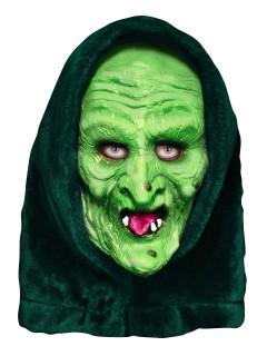 Halloween 3 Hexe Latex-Maske Lizenzartikel grün