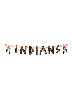 Wilder Westen Banner Girlande Indians Party-Deko bunt 160x22cm