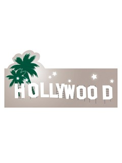 Hollywood Schild Party-Deko Palmen bunt 40x36cm