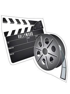 Hollywood Schild Party-Deko Filmrolle bunt 40x36cm