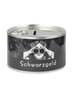 Schwarzgeld Spardose schwarz-weiss 10,5x6cm