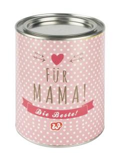 Keksdose Für Mama Muttertags-Geschenk rosa-silber 10x12,5cm