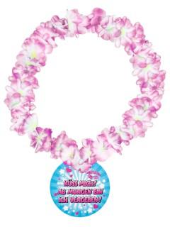 Halskette Küss mich Hawaii-Kette bunt 14cm