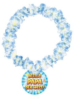 Hawaii-Kette Bester Papa der Welt bunt 14cm