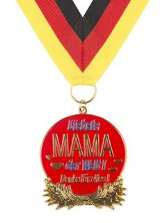 Orden Liebste Mam der Welt Muttertags-Geschenk Medaille bunt 6x6cm