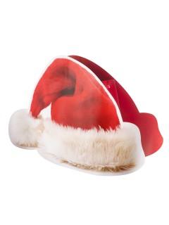 Geschenktasche Weihnachtsmann-Mütze rot-weiss 35,5x25,5cm