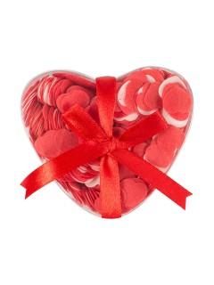 Herz-Konfetti aus Seife rot 20g