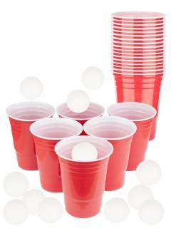 Beer Pong Set für unterwegs bunt