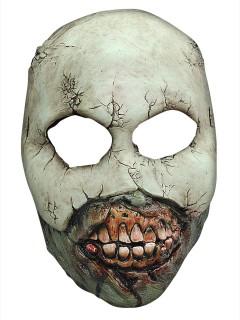 Zombie Phantom Halloween Latex-Maske Halbmaske Untoter grün-grau