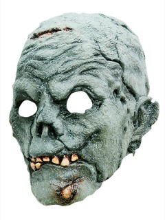 Mumien-Zombie Halloween Latex-Maske Untoter blau-grau