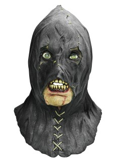 Sadistischer Killer Halloween Latex-Maske schwarz