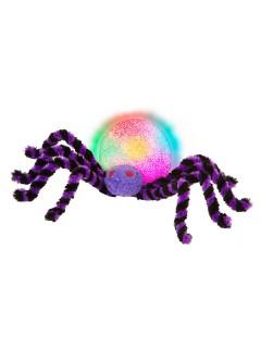 Plüsch-Riesenspinne mit Farbwechsel Halloween-Deko schwarz-lila-bunt 30cm