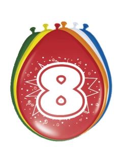 8. Geburtstag Luftballons Party-Deko 8 Stück bunt 30cm