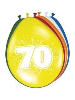70. Geburtstag Luftballons Party-Deko 8 Stück bunt 30cm