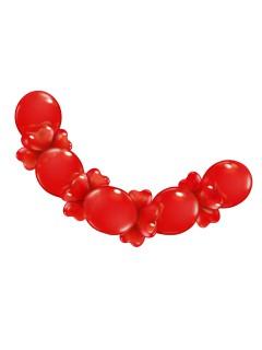 Herz Luftballon-Girlande Party-Deko rot 210x30cm