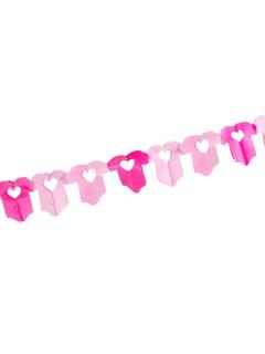 Babystrampler Girlande Geburtstag Party-Deko pink-rosa 600x16cm