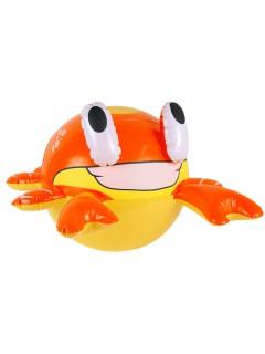 Aufblasbare Krabbe Sommer-Party Deko orange-gelb 45cm