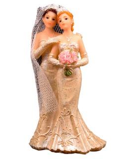 Hochzeit Deko-Figur Brautpaar Frauen Tischdeko weiss-beige 6x10cm