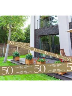 Goldene Hochzeit Absperrband 50. Jubiläum Party-Deko gold 15m
