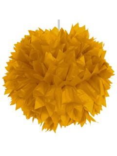 Waben-Ball Pompom Party-Deko gold 30cm