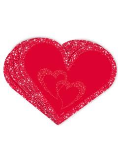 Hochzeit Servietten Herz Valentinstag 20 Stück rot 33x33cm