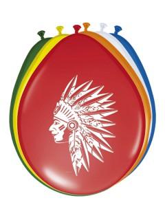 Indianer Luftballons Wilder Westen Kinderparty 8 Stück bunt 30cm