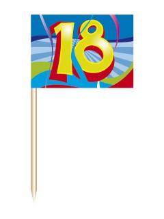 18. Geburtstag Party-Picker Partydeko 50 Stück bunt 6,5cm