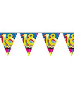 18. Geburtstag Wimpel-Girlande Party-Deko bunt 10m