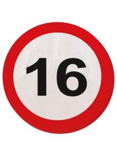 16. Geburtstag Servietten Party-Deko 20 Stück rot-weiss 25cm