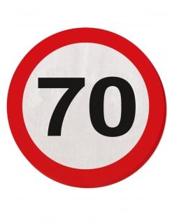 70. Geburtstag Servietten Party-Deko 20 Stück rot-weiss 25cm