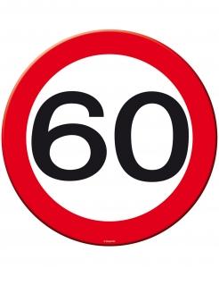 60. Geburtstag Party-Untersetzer 8 Stück weiss-rot
