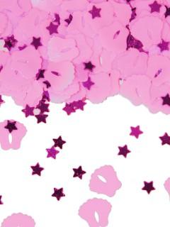 Babyfüsse Konfetti Party-Deko zur Geburt rosa 15 g