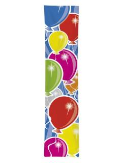 Geburtstags-Banner Luftballons Party-Deko bunt 300x60cm