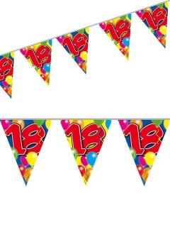 Wimpelkette 18. Geburtstag Party-Deko Girlande bunt 10mx29cm