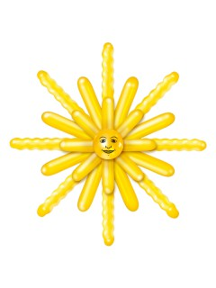 Luftballon-Set Sonne Party-Deko 24-teilig gelb 120cm