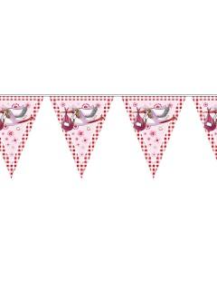 Girlande Geburt Klapperstorch Dekoration rosa 600x27cm